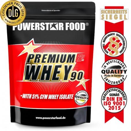 Powerstarfood PREMIUM WHEY 90 - Whey Protein Shake - 850 g Pulver