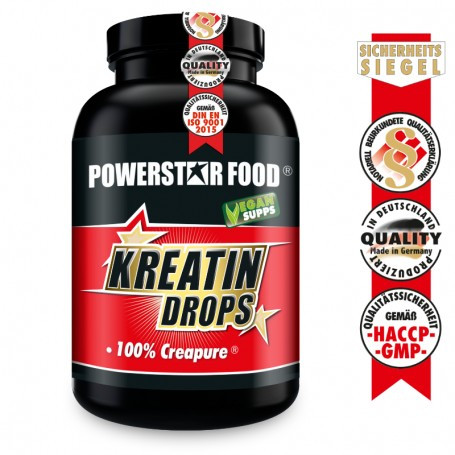 Powerstarfood KREATIN DROPS - Creatine Lutschtabletten - 60 Drops