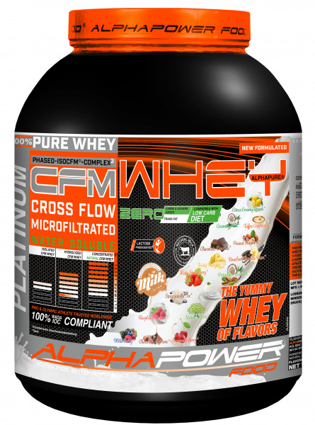 ALPHAPOWER FOOD: CFM 100% Whey Protein TRIPLE CFM WHEY COMPLEX 2000 g
