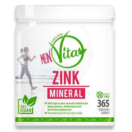 MeinVita - ZINK MINERAL, 25 mg (Tagesportion), 365 Tabl.
