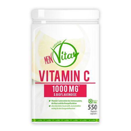 MeinVita Vitamin C - 1000 mg (Tagesportion), 550 Kapseln