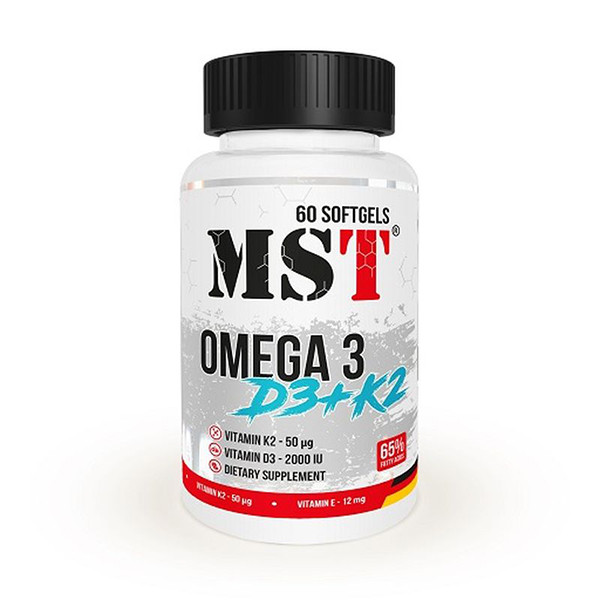 MST - OMEGA 3 D3+K2, 60 Softgels